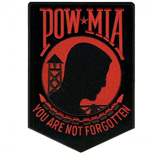Hot Leathers, POW MIA YOU ARE NOT FORGOTTEN BIKER, Iron-On / Saw-On Rayon PATCH - 3