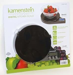 Kamenstein Stainless Steel Digital Kitchen Scale (Black)