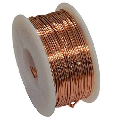 Solid Bare Copper Round Wire 5 Oz Spool Dead Soft 12 To 30 Ga (20 Ga / 108 Ft) ()