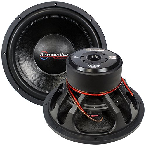 "American Bass XFL1544 15"" Dual 4 Ohm Competition Car Stereo Subwoofer"