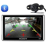 GPS Navigation for Car, Xgody 7 Inch Capacitive Screen 8GB US and Canada Lifetime Maps Update Spoken Turn-to-Turn Truck Vehicle GPS Navigator System for Cars (826BT+YM)