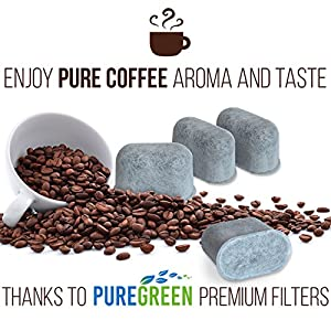 PURE GREEN WATER FILTER Activated Charcoal Water Purification Filters - For Keurig - Universal - Pack of 12 Pieces by JFL Dist.