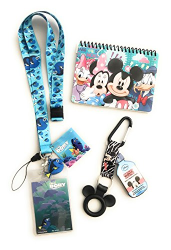Disney Trip Finding Dory Bundle- Autograph Book, Lanyard and Bottle Holder Disney Cruise Trip (Halloween Party At Disney World 2017)