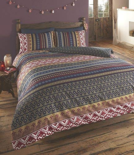 De Cama Ethnic Indian Print Duvet Cover With 2 Pillow