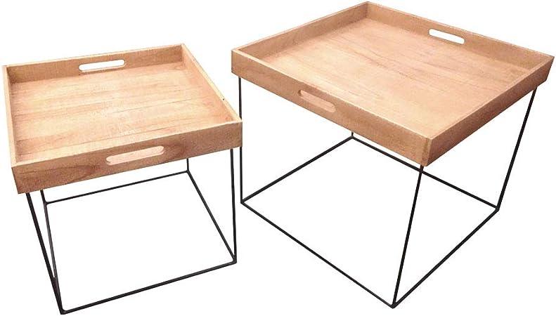 Selsey Teak Table Basse Jardin Lot De 2 Tables Basses Noir