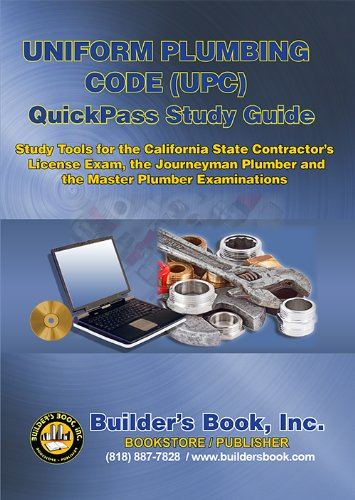 2012 Uniform Plumbing Code (UPC) QuickPass Study Guide CD-ROM