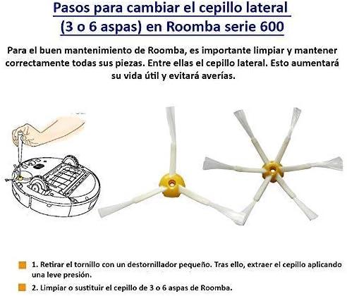 MIRTUX Kit de repuestos compatible con Roomba serie 600. Pack de ...