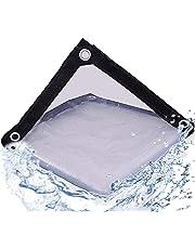 Zwaar uitgevoerd zeildoek Waterdicht PVC transparant Poly helder vinyl zeildoek, dik en duurzaam zoals verwacht Isolatie Zacht glazen zeildoek - Luifel Luifel Terrasmeubilair