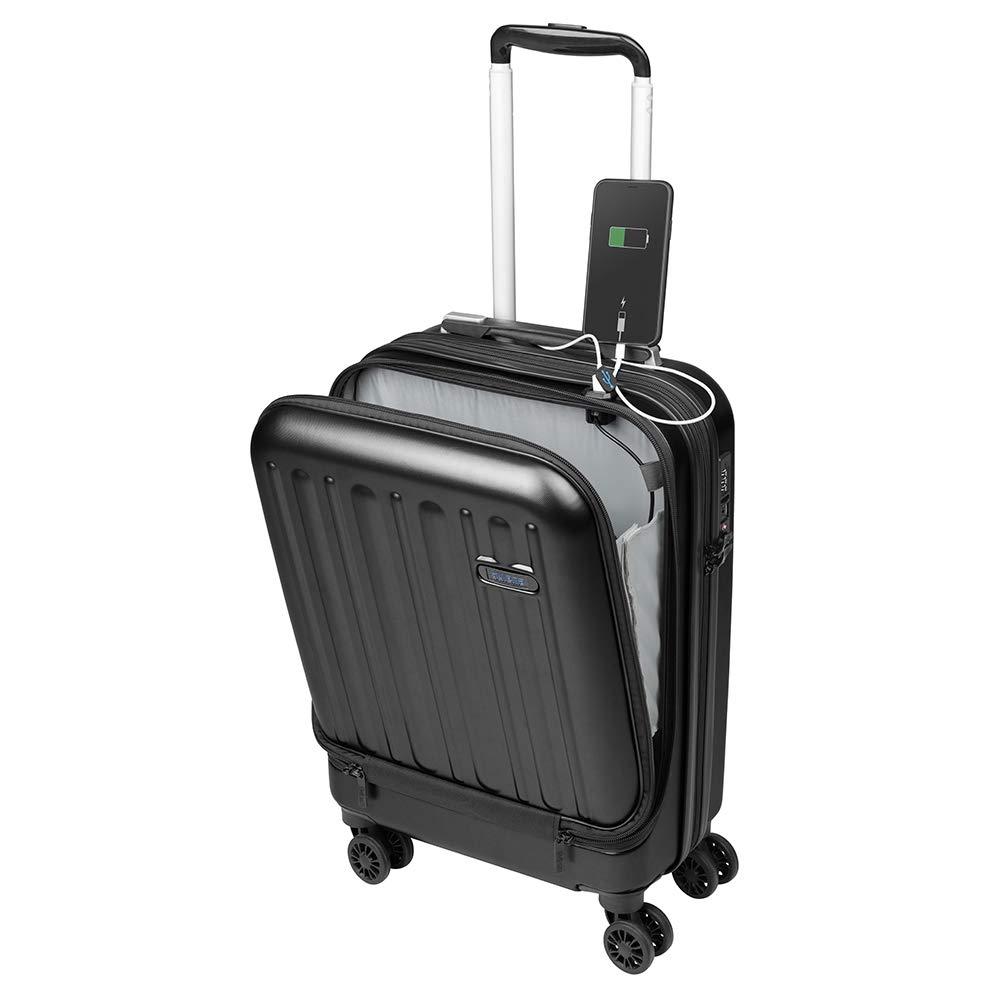 e4fe9eef72 Valise Cabine avec Compartiment Ordinateur Portable Bagage à Main Trolley  Rigide et Léger 4 roulettes Doubles