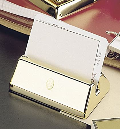 Amazon.com : El Casco M670 Business Card Holder (Chrome & black) : Office Products