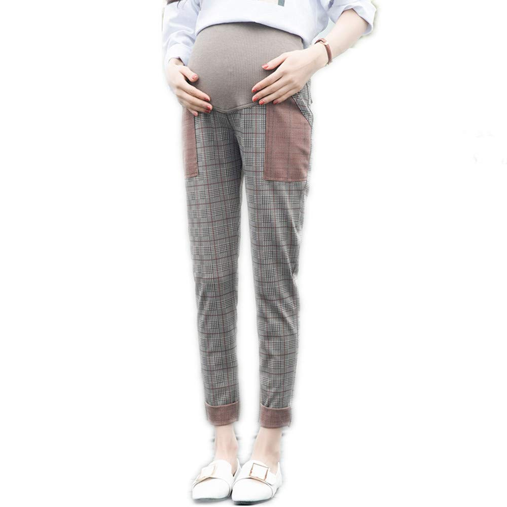 QSEVEN Pantalones de Maternidad Over Bump Polainas C/ómodo Tramo M/ás Pa/ño Grueso y Suave Cepillado Grueso Pantalones Trousers Mujer Oto/ño Invierno