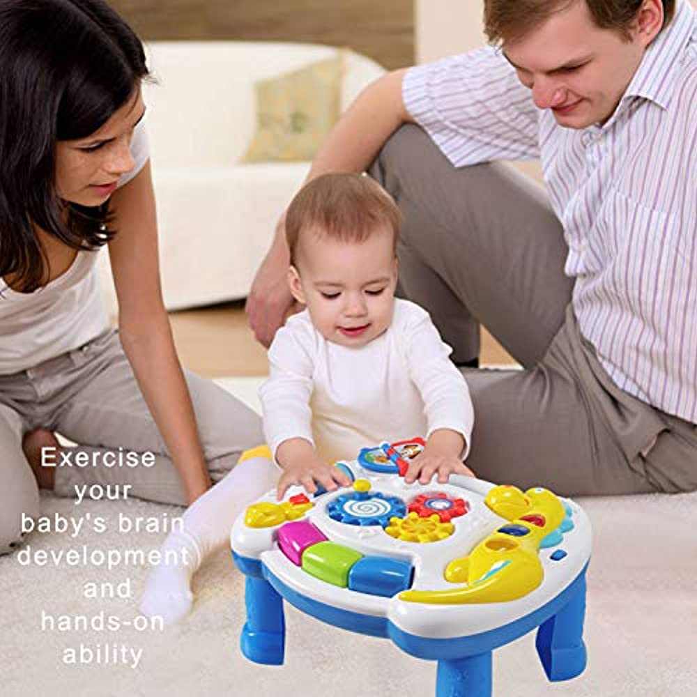 9aee9bebd HOMOF Music   Sound Baby Toys Musical Learning Table 6 Months Up ...