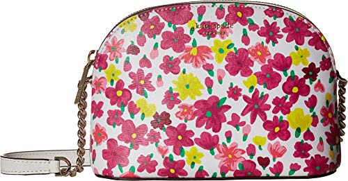 - Kate Spade New York Women's Sylvia Marker Floral Small Dome Crossbody Optic White Multi One Size