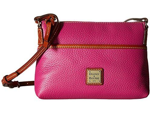 Dooney & Bourke Women's Leather Ginger Pouchette Crossbody Shoulder Bag Magenta