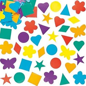 Baker Ross Pack Ahorro de Formas de cartulina de Colores para Tarjetas, collages y Manualidades Infantiles - Pack de 2 000.: Amazon.es: Juguetes y juegos