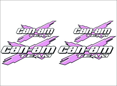 CAN-AM Team 3DX / PINK / 4 PACK Vinyl Recreational Vehicle ATV Graphic Decal Stickers (Atv Decals Pink)