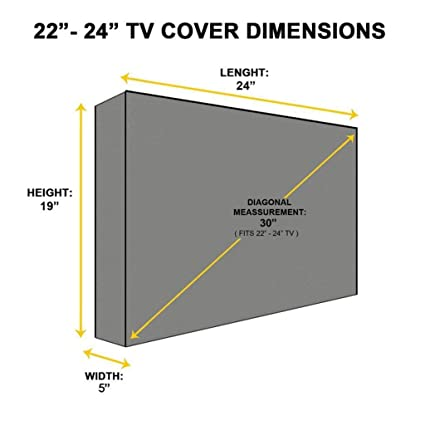 ELECTROPRIME reg; 2X 22 24 Inch Waterproof Television LCD LED Plasma Cover, Outdoor TV Cover