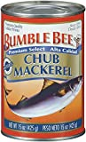 BUMBLE BEE Chub Mackerel, 15 Ounce Can (Pack of 12), Canned Mackerel, High Protein, Keto Food, Keto Snack, Gluten Free…