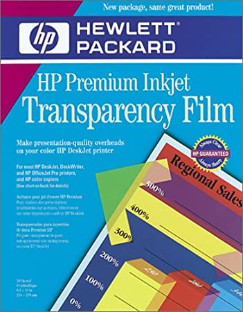 photo relating to Printable Transparency Paper known as HP Top quality InkJet Transparency Motion picture 50 Sheets (C3834A)