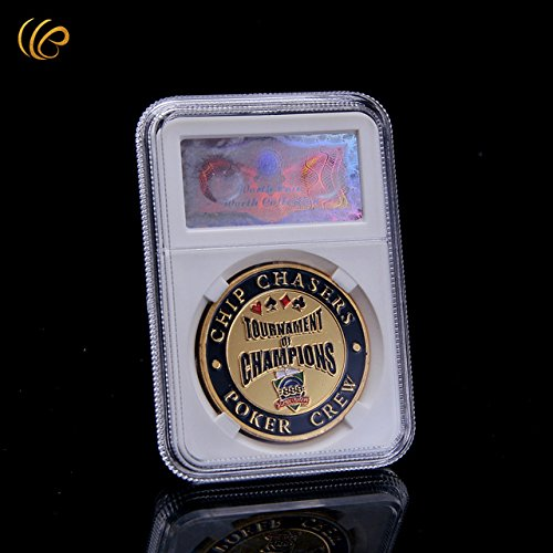 Type 28 New From Imported Hot Sale Cute Casino Poker Token Coin Shark Design 24k gold Plated Metal Coin Good Quality Round Coin with Security Code Box