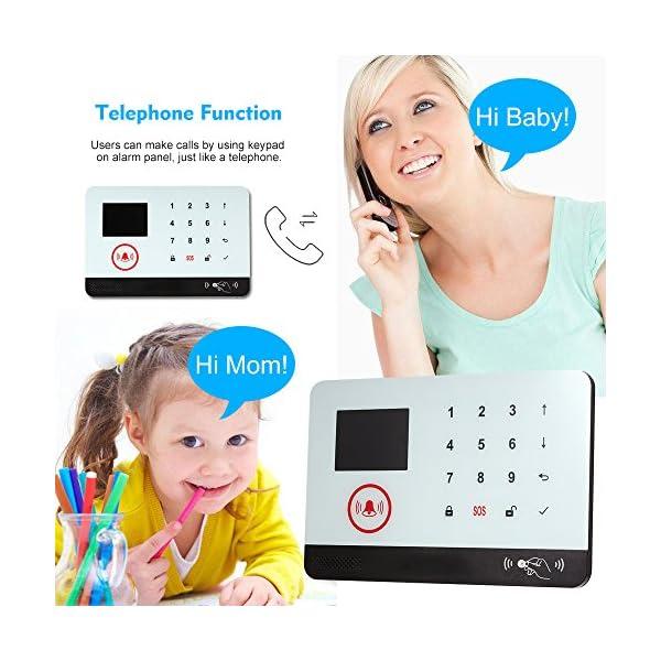 Owsoo Allarme Casa Kit 433MHz Allarme Senza Fili Wireless WIFI + GSM SMS Auto-dial LCD Sistemi di Allarme Domestico di… 3 spesavip