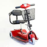 """Zip'r Mobility - Traveler - Travel Scooter - 3-Wheel - 14""""W x 12.5""""D - Red"""