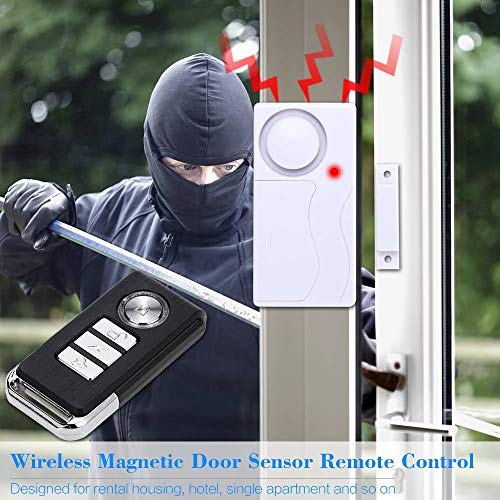 Wireless Magnetic Door Sensor Remote Control Window Detector Burglar Security Alarm