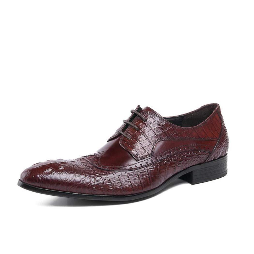 Zxcer Business Schuhe Mens Dress, Leder Spitzschuh Lace Up Derby Oxford Hochzeit Modische Vintage Büro Lässig Flache Schwarz Braun