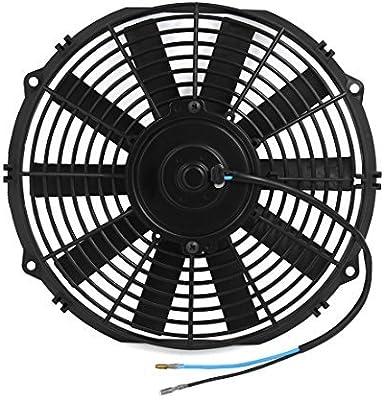 DealMux 12 Auto Universal del radiador del Coche Aire Acondicionado Motor del Ventilador de refrigeración Negro DC 24V: Amazon.es: Coche y moto
