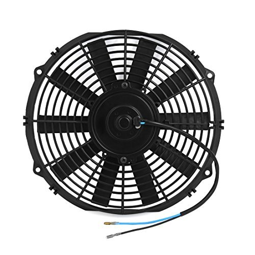 DealMux 12 Universal Auto Car Radiator Air Conditioning Engine Cooling Fan Black DC 24V: