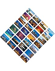 30 PCS Artistic Retro Postcards, Beautiful World Travel Scenery