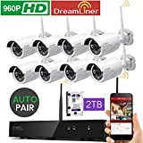 [Dream Liner WiFi Booster] xmartO WOS1388-2TB 8 Channel 960p HD Wireless Security Camera System with 8 HD Outdoor Wireless IP Cameras and 2TB Hard Drive (Auto-Pair, Built-in Router, 1.3MP Camera) Review