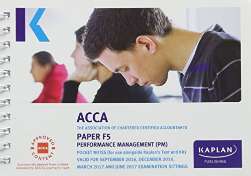 ACCA F5 Performance Management - Pocket Notes (Acca Pocket Notes) Kaplan Publishing