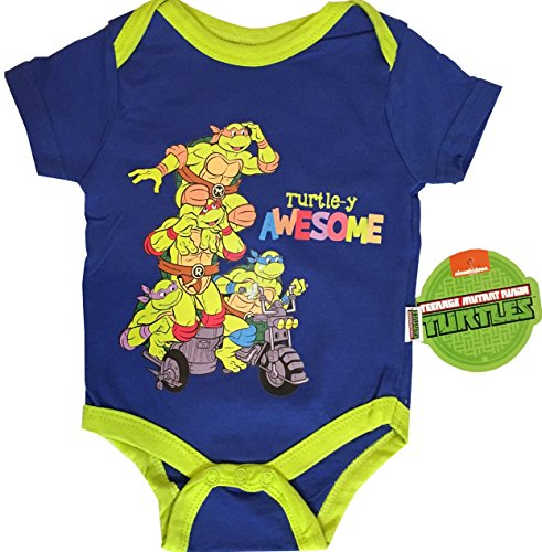 Ninja Turtle Onesie Costume (Super Heroes Baby Boy Costume - Jumpsuit - Bodysuit - Onesie (0-3 Months, TMNT - Turtle-y Awesome))