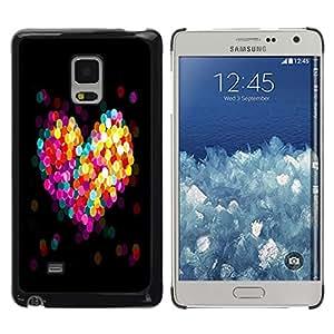 Caucho caso de Shell duro de la cubierta de accesorios de protección BY RAYDREAMMM - Samsung Galaxy Mega 5.8 - BOKEH CORAZÓN COLORIDO