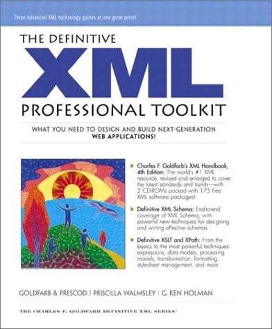 The Professional XML Toolkit  Definitive Xml