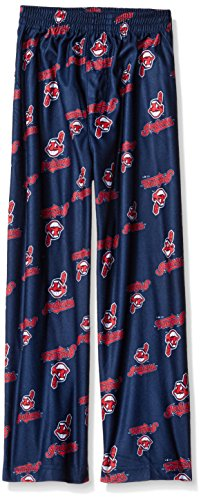 - Outerstuff MLB Cleveland Indians Boys 4-7 Sleepwear All Over Print Pants, Medium (5-6), Athletic Navy