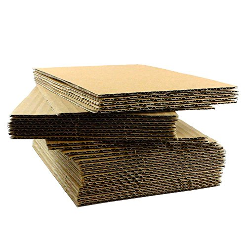 Pads Corrugated Sheet (200 EcoSwift 8.5x11 Corrugated Cardboard Filler Inserts Sheet Pads 1/16