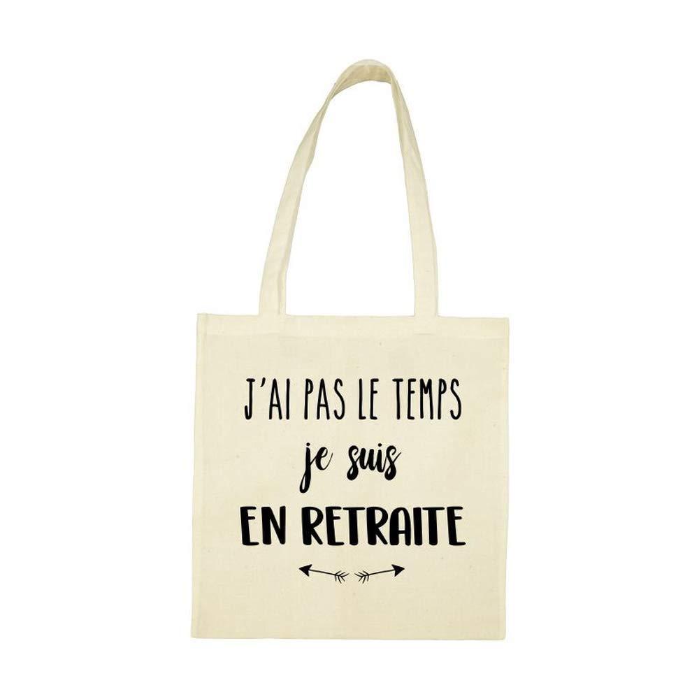 My-Kase tote/_bag AP Coton RETRAITE-PAS-LE-TEMPS
