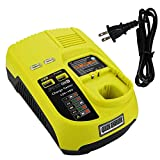 VINIDA P117 P118 Dual Chemistry IntelliPort Charger Li-ion & Ni-cad Ni-Mh Battery Charger 12V -18V For Ryobi ONE Plus (Battery Not Included, Charger Only)