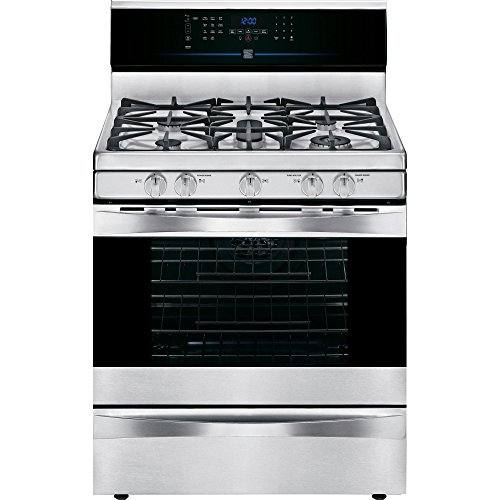 Self Cleaning Dual Fan - Kenmore Elite 75343 5.6 cu. ft. Self Clean Gas Range in Stainless Steel, includes delivery and hookup
