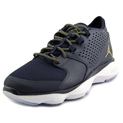 Nike Jordan Flow Mens Fashion-Sneakers 833969-405_10.5 - Obsidian/MTLC Gold Coin-White
