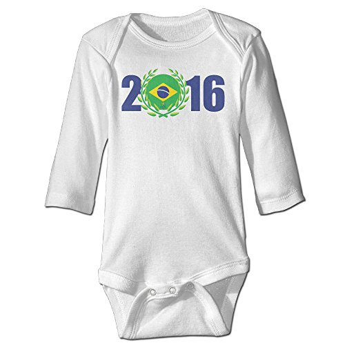 Price comparison product image Olympics Games Baby Boy's & Girl's The 2016 Rio De Janeiro White Tshirt Size 6 M