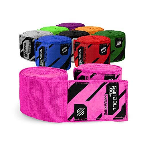 Sanabul Boxing Handwraps Elastic 180 inch Pink