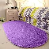 YJ.GWL High Pile Soft Shaggy Rug Purple Fluffy Area Rugs for Bedroom Girls Room Anti-Slip Nursery Rug Carpets Lavender Room Decor 2.6' X 5.3'