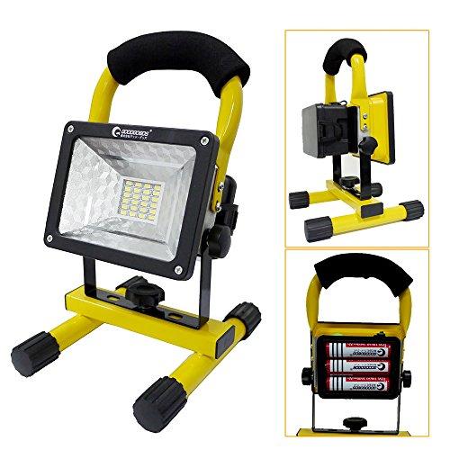 GOODGOODS LED投光器 充電式 24W ポータブル投光器 電池交換対応式 GH12-2の商品画像