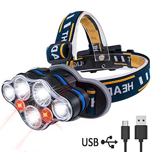Led 4 Mode Headlamp Light Torch Camping Flashlight in US - 9