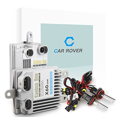 Car Rover HID Xenon Conversion Kit H11 H8 H9 55W with No Error CanBus Technology Ballasts - 4300k - 3 Year Warranty