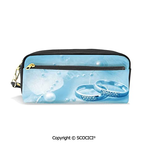 ff719640dee9c Amazon.com : Students PU Pencil Case Pouch Women Purse Wallet Bag ...