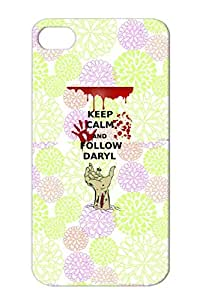 Calm Walking Comic Dead Zombie Daryl Funny Yellow For Iphone 4 Shockproof Followdaryl2 Protective Case